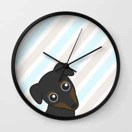 Rylee the Min Pin Wall Clock