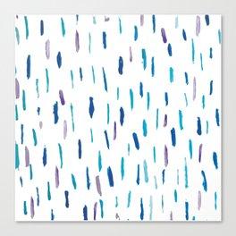 Minimal blue and purple brush strokes Canvas Print