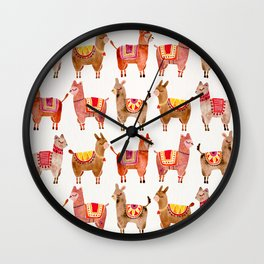 Alpacas Wall Clock