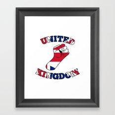 United Kingdom Fist Framed Art Print