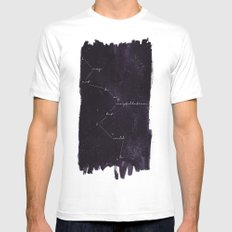Constellation White Mens Fitted Tee MEDIUM