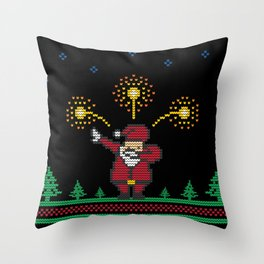 Dabbing Santa Throw Pillow