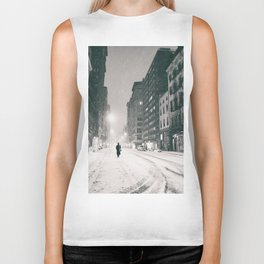 New York - Snow at Night Biker Tank