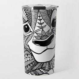 Zentangle Simba Travel Mug