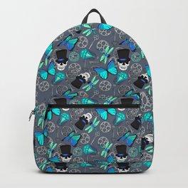 Steampunk Skulls Cogs and Butterflies Pattern Backpack