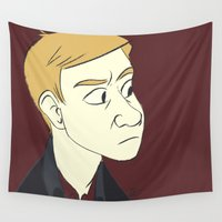 john Wall Tapestries featuring John by The Art of Nicole