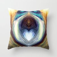 mirror Throw Pillows featuring Mirror  by DreamBeyondArt