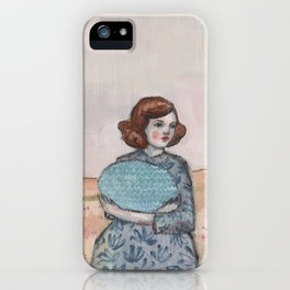 she held tight to her memory of the sea iPhone Case