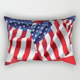 Patriotic American Flag Abstract Art Rectangular Pillow