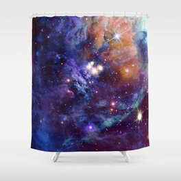 Bright nebula Shower Curtain