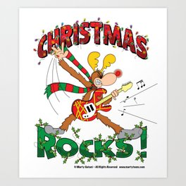 Christmas Rock Art Print