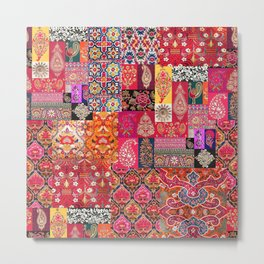 -A35- Traditional Colored Moroccan Artwork. Metal Print