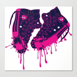 Love my dirty sneakers Canvas Print