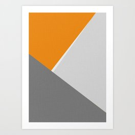 Orange And Gray Art Print