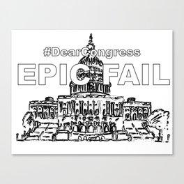 Congress EPIC FAIL Canvas Print