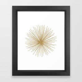Gold Sputnik Orb Framed Art Print
