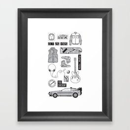 McFly Icons - Back to the Future Framed Art Print