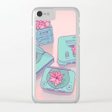 Flowers & Consoles Clear iPhone Case