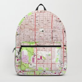 Vintage Map of Gainesville Florida (1966) Backpack