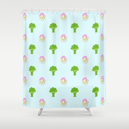 Guilty pleasure shame pattern Shower Curtain