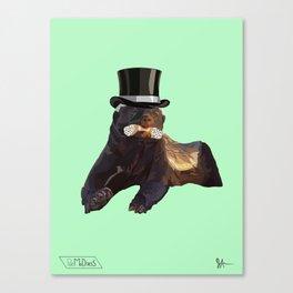 Top Hat Badger Canvas Print