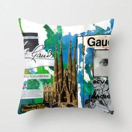 Antoni Gaudi Throw Pillow