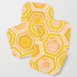 Golden Tiles Watercolor Coaster