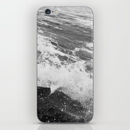 SEA on Black and White iPhone Skin