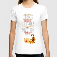 winnie the pooh T-shirts featuring stronger, braver, smarter, winnie the pooh by studiomarshallarts