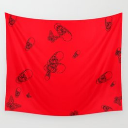 Red pattern Wall Tapestry