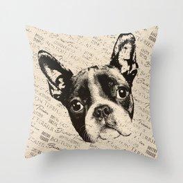Boston Terrier dog Throw Pillow