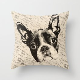 Boston Terrier dog Throw Pillow
