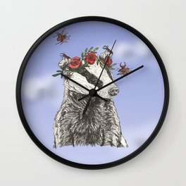 The Badger and the Beetles at Noon Wall Clock