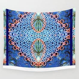 Copper And Steel On Stone Wall Tapestry