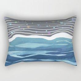 Sea Stars on The Black Sand / Coast Rectangular Pillow