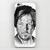 daryl iPhone & iPod Skins featuring Daryl Dixon by 13 Styx