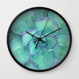 Moody Blues Succulent Series by Hxlxynxchxle- Style 2 Wall Clock