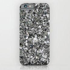 Black White Stone Background Slim Case iPhone 6s
