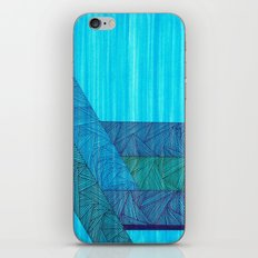 Sky Blue iPhone & iPod Skin