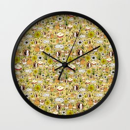 Guinea Pig Pattern Wall Clock