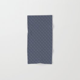 Fish Hooks in Navy Blue Hand & Bath Towel