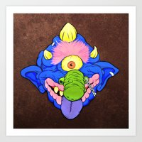 my pet madball Art Print