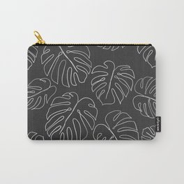 black leaf monstera Carry-All Pouch