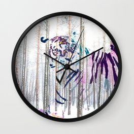 Protected forest Wall Clock