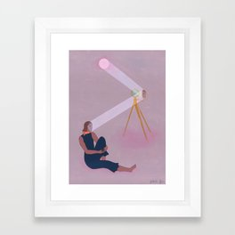 Contact Établi Framed Art Print