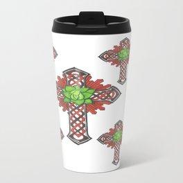 crystal celtic cross Travel Mug