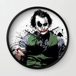 Joker Painting Wall Clocks Society6