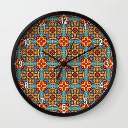 Ceramic Celebration Pattern Wall Clock