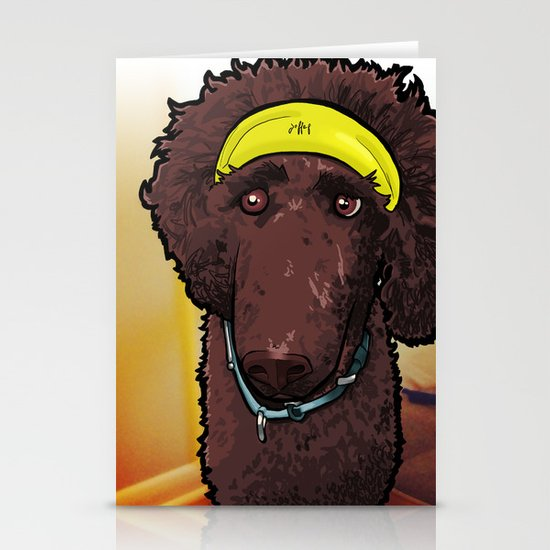 Hobbes (poodle) Stationery Cards