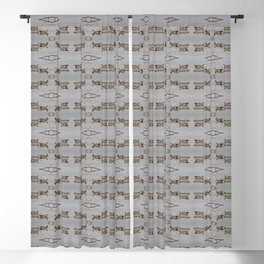 Egyptian Geese with Babies Blackout Curtain
